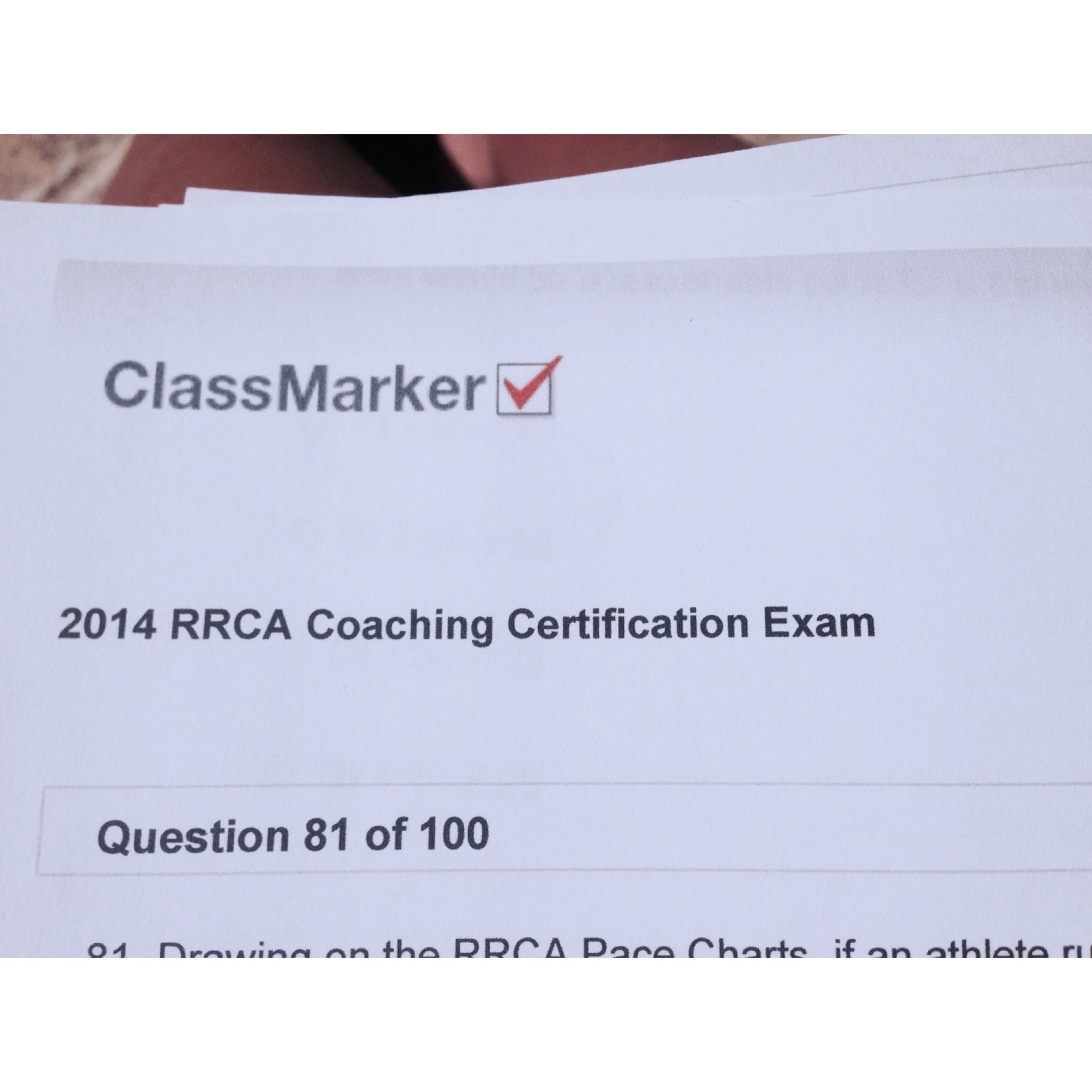 RRCA Coaching Certification Exam   Jen Chooses Joy