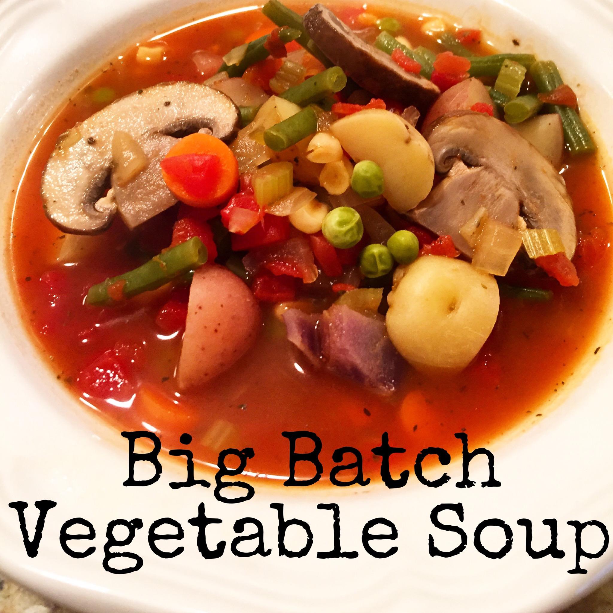 Big Batch Vegetable Soup | Jen Chooses Joy